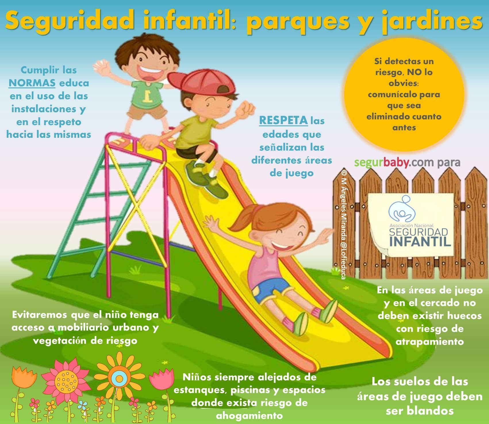 seguridad infantil en parques y jardines